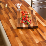 Walnut worktops are easily recognisable, thanks to the variation of colours found in each timber stave.