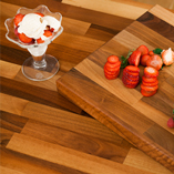 Choose walnut worktops for your kitchen and purchase one of our matching walnut chopping boards!