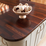 Wenge wood worktops are perfect for high-contrast kitchens or any space flooded with natural light.