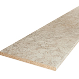 Each white granite laminate worktop comes with edging strip that can be used to finish the short edges during installation.