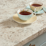 If your kitchen is lacking in natural light, choose a light worktop such as our white granite laminate worktops.