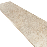 Our white granite spring carnival worktops are provided with a 3mm post-form front edge profile.