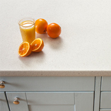 Our white Quartz Stone worktops have a lightly textured surface to imitate the look of real quartz