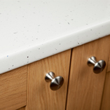 White Sparkle laminate worktops will offer an elegant and stylish finishing touch to your new kitchen.