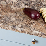 These Winter Carnival granite laminate worktops are an affordable alternative to real granite worktops, and come with a smooth 3mm profile on the front edge.