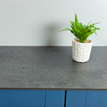 Zenith Magma worktops have an ultra-thin 12mm profile which makes them a fantastic option for contemporary settings.