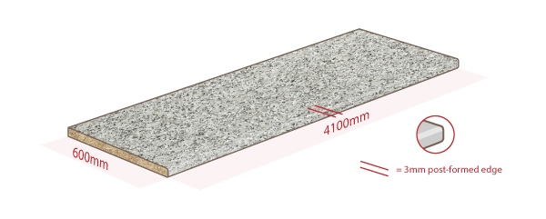 Grey Granite Work Surface Dimensions