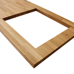 Add a rectagular or circular hob cut-out to you solid wood worktop.