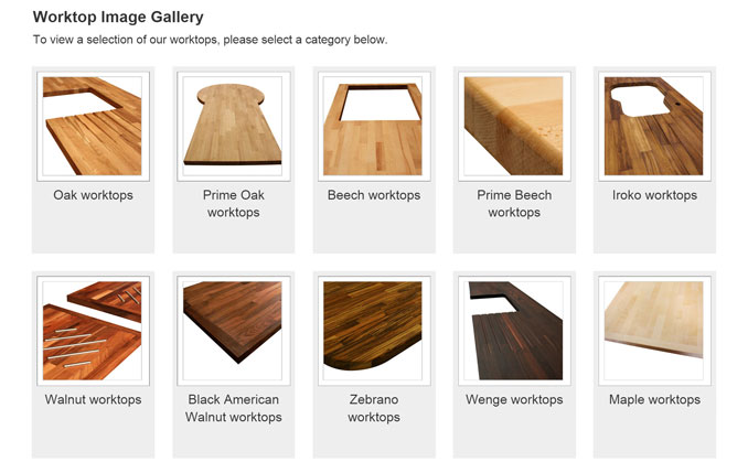 View our Worktop Gallery