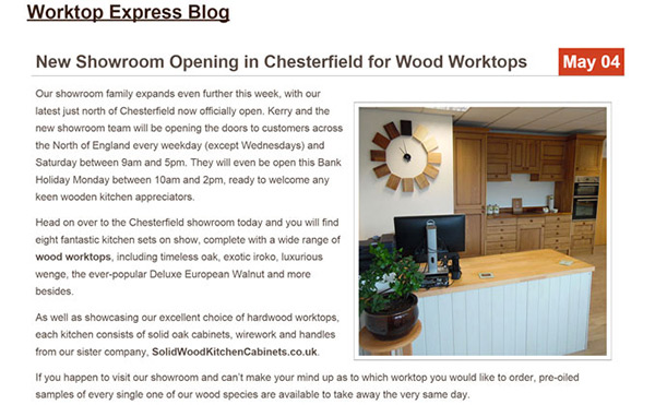 Worktop Express® Blog