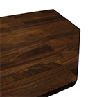 Wenge worktop with irregular cut outs