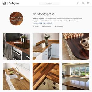 Check Out More Pictures of Wooden Worktops on Instagram