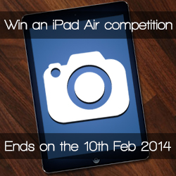 Win an iPad Air competition ends on 10th February 2014