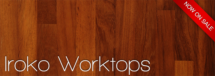 Iroko worktops now on sale