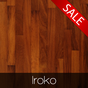 Iroko worktops sale February.