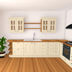 One of the kitchen sets planned for our Birmingham worktop showroom
