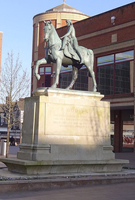 Lady Godiva statue in Coventry solid wood worktops.