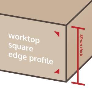 Square edge profile