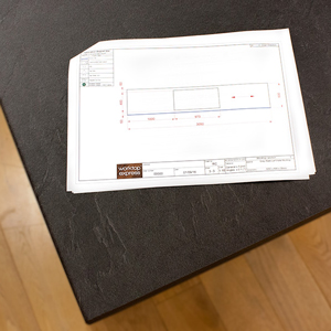 Your new laminate worktop can be pre-cut and customised for easy installation.