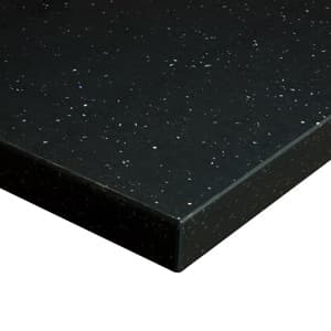 Black sparkle laminate worktop