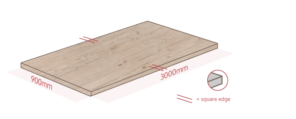 Light Wood Work Surface Dimensions