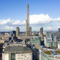 The proposed site for London's Oakwood Tower is just a short tube ride from our wooden worktops showroom in Camden!