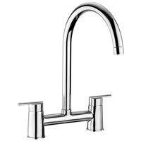 For luxurious modern kitchens featuring our solid wooden worktops, consider the Rangemaster Chrome Bridge Tap.