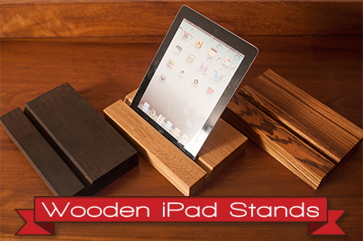 Our New Wooden iPad Stands: Perfect for Solid Wood Kitchen Countertops