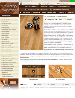New Product Page - Oak Worktops