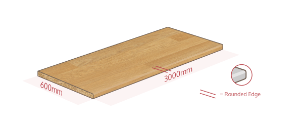 Oak Effect Work Surface Dimensions