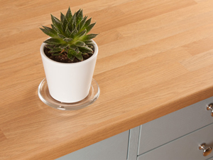Laminate worktops are easy to install and simple to maintain.