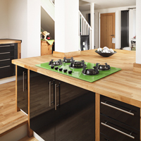 Be sure to fit in enough of the room to give your photo context solid wood work surfaces.