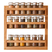 This oak spice rack is a must-have wooden kitchen accessory for keeping your herbs and spices perfectly organised.
