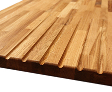 Solid Wood Worktop - Drainage Groove