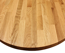 Solid Wood Worktop - Ellipse end