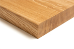A pencil edge profile gives a softer look to solid wood worktops