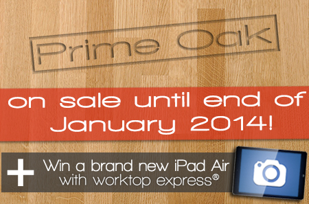 Win an iPad Air kitchen worktop competition