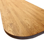 Prime Oak worktop 230mm radius corners