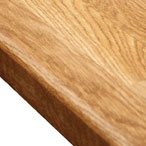 Prime Oak worktop with pencil top edge profile