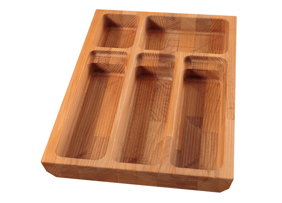 Solid Beech Cutlery Drawer Insert - W310mm X 420mm X 40mm