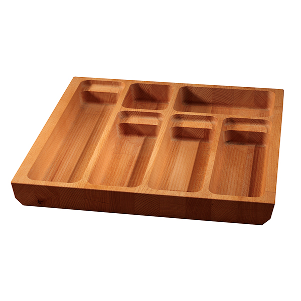 Solid Beech Cutlery Drawer Insert - W410mm X 420mm X 40mm
