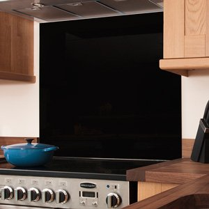Black Glass Splashback - 750mm x 600mm x 6mm