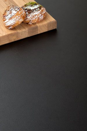 Black Worktop Upstand - 3000mm x 120mm x 18mm