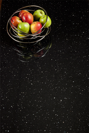Black Sparkle Worktop Upstand - Andromeda - 3M x 120 x 18mm