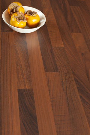 Black Walnut Block Laminate Worktop Upstand - 3m x 95mm x 12mm