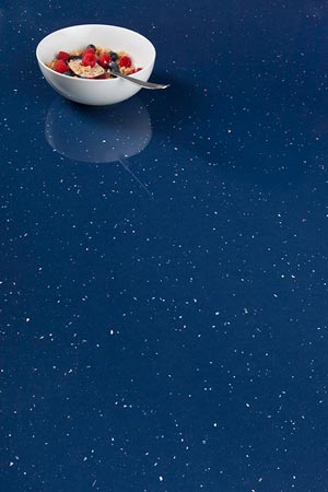 Blue Sparkle Laminate Worktop Upstand - Andromeda - 3m x 120mm x 18mm