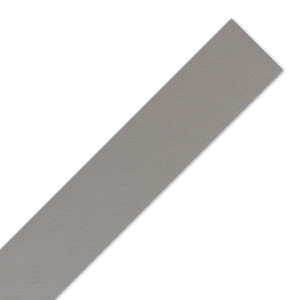 Brushed Stainless Steel Effect Worktop Edging Strip - 1530mm x 45mm