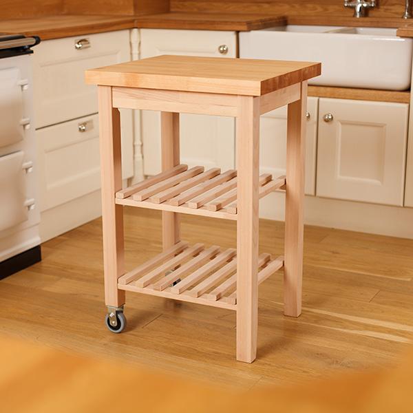 Kitchen Worktops Express: Wooden Kitchen Trolleys & Butcher Block Trolley
