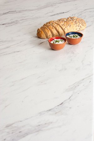 Calcutta marble laminate worktops
