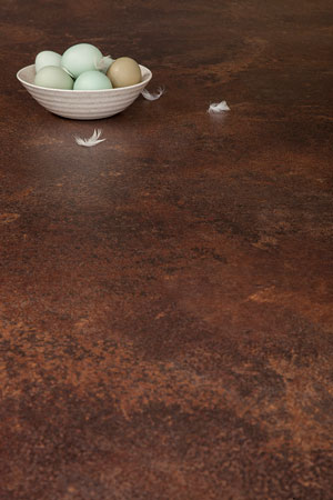 Copper Effect Laminate Worktop Upstand 3m x 120mm x18mm